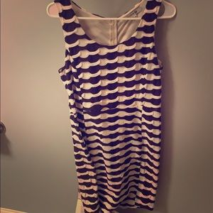 Brown and white body con dress